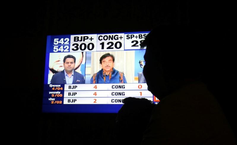 India's BJP prepares return to power as exit polls predict