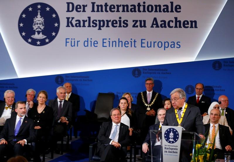 Resultado de imagen de Antonio Guterres premiul Charlemagne