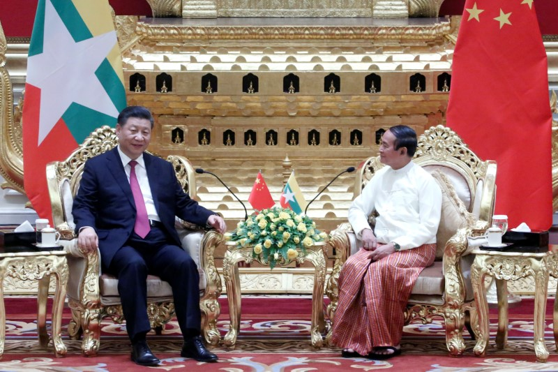 Image result for Myanmar China agreement Two countries president