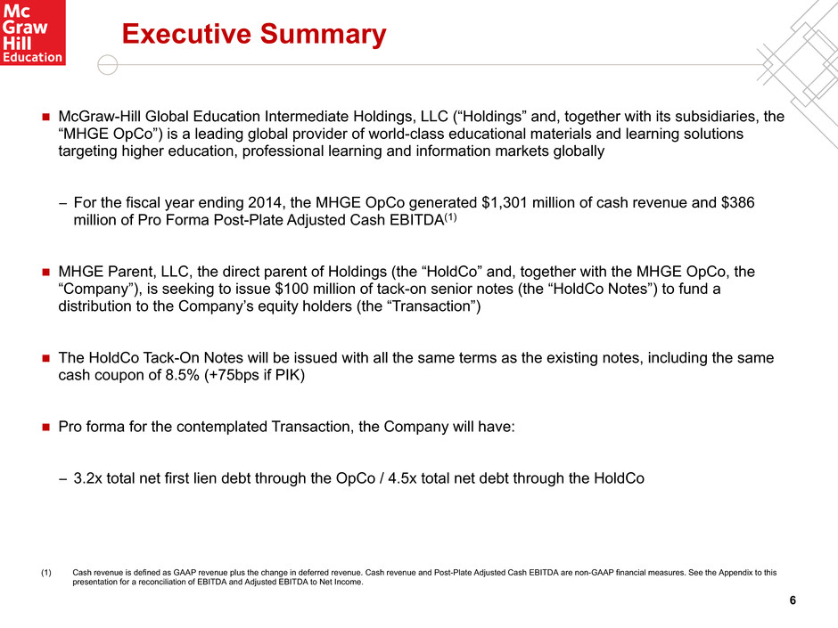 Form 8 k mcgraw hill global educa for apr 01 6 executive summary mcgraw hill global education intermediate holdings llc holdings and together with its subsidiaries the mhge opco is a fandeluxe Choice Image