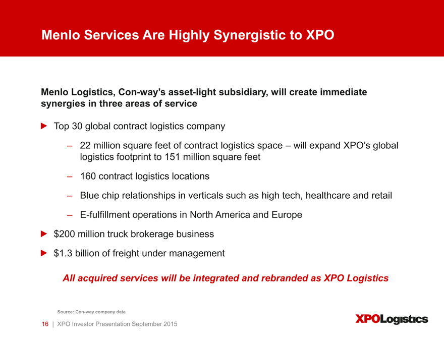 Form 8-K XPO Logistics, Inc  For: Sep 09