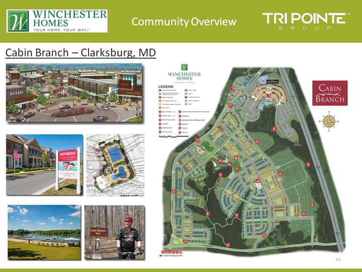 Form 8 k tri pointe group inc for nov 10 for Winchester homes cabin branch townhomes