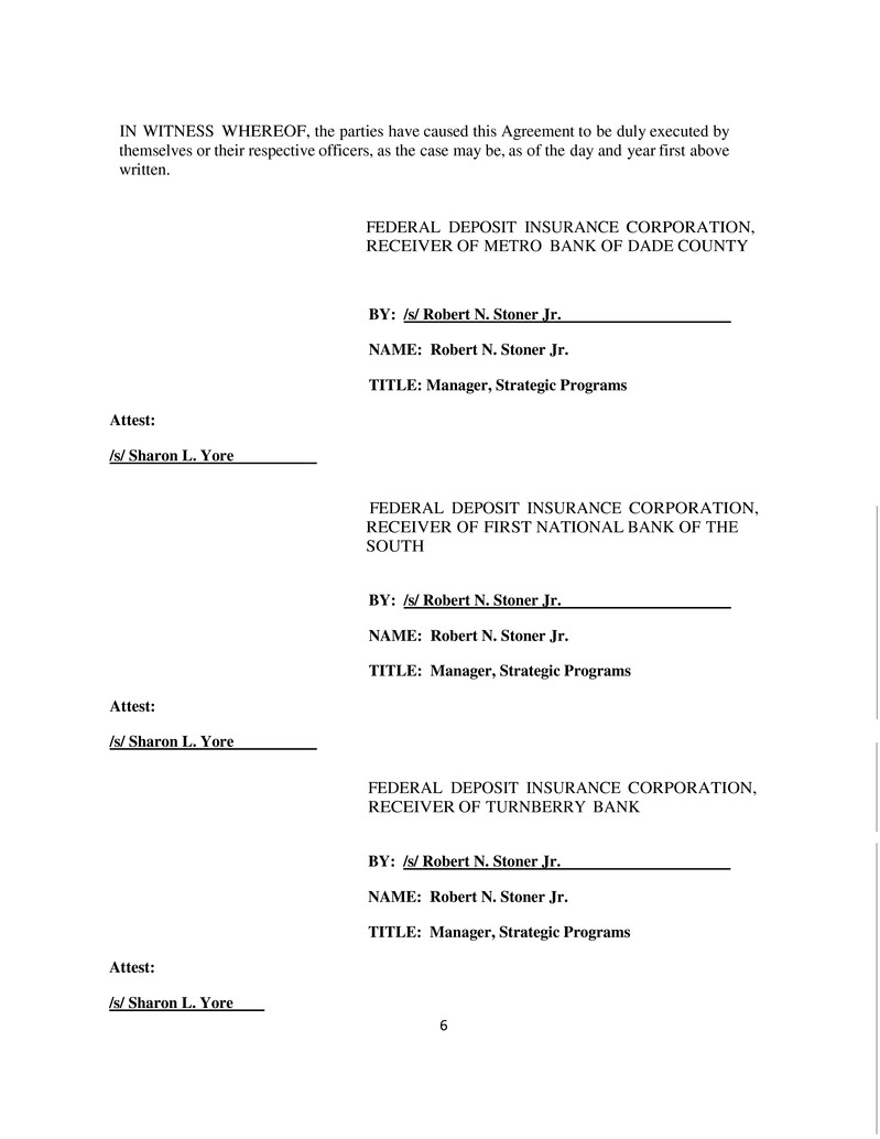 Form 8K Capital Bank Financial For Mar 21 – Financial Agreement Between Two Parties
