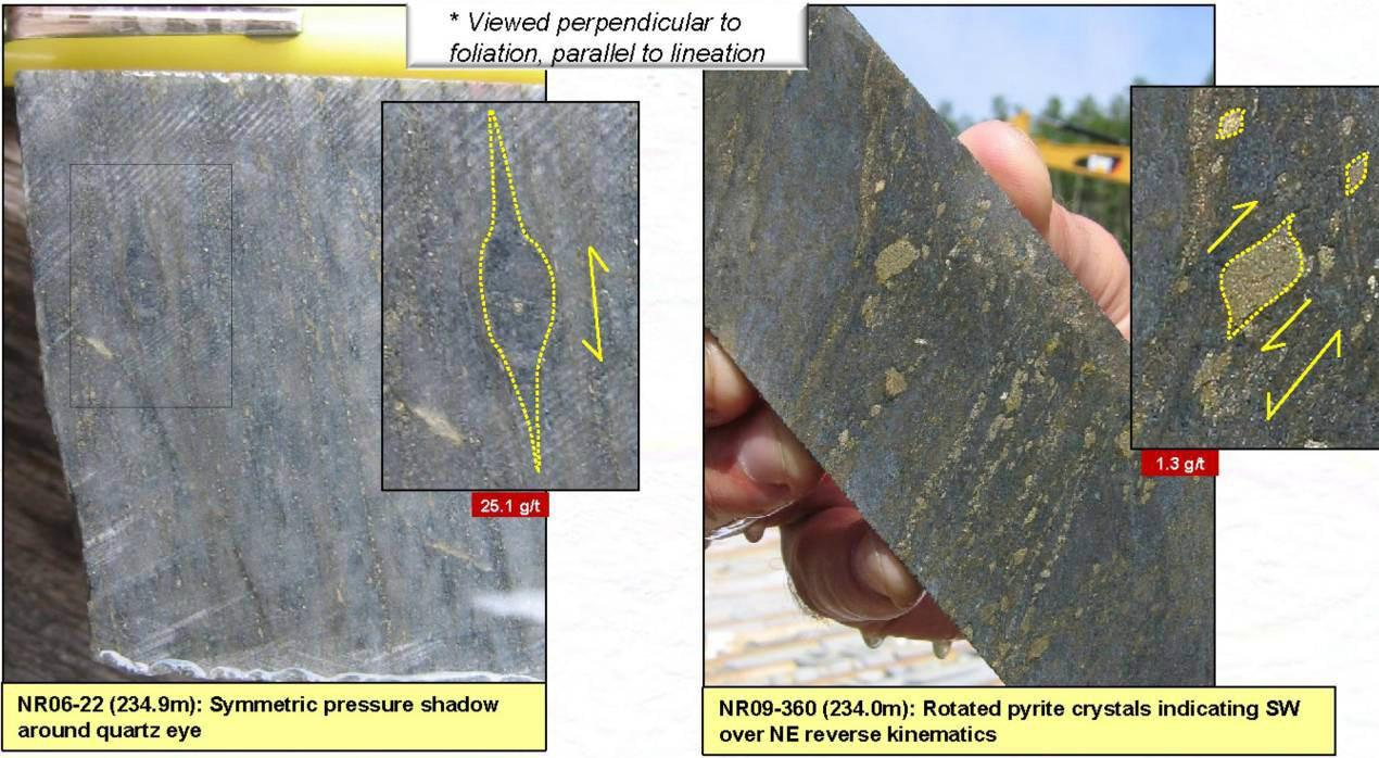 Form 6 K New Gold Inc Fi For Aug 15 Omc 165 Starter Wiring Diagram Figure 7 Pressure Shadows Around Rigid Objects In Dacitic Rock